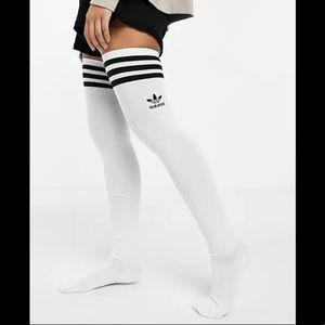 adidas Originals Thigh High OTK Socks in White